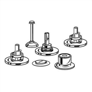 Delta Classic Triple Lever Handle Vertical Rosette Spray Bidet Faucet