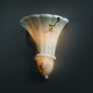 Justice Design Group LumenAria Two Light Wall Sconce Faux Alabaster