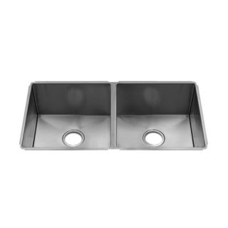 J7 11 x 17.25 Undermount Stainless Steel Double Bowl Kitchen Sink