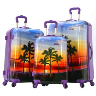 Olympia Palm Beach 3 Piece Spinner Luggage Set   HD 4000 3 BU / HD