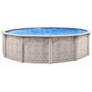 Trevi Aqua Deluxe Round Sunscape Above Gound Pool   206SD1852