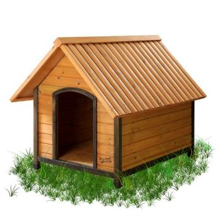 New Age Pet Eco Concepts Rustic Lodge Dog House   ECOH201 X