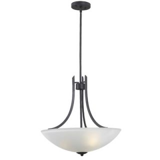 Kenroy Home Mirage 3 Light Inverted Pendant   91923FGRPH