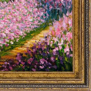 Tori Home Artists Garden at Giverny Canvas Art by Claude Monet