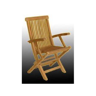 Arbora Teak Solid Teak Classic Folding Dining Arm Chairs (Set of 2