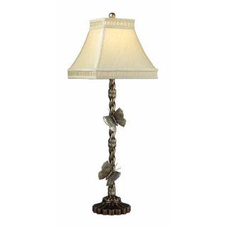 Wolcott Lake Lamp in Antiqued Silver Leaf