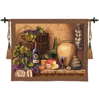 Fine Art Tapestries Wine Tasting WH Wall Hanging