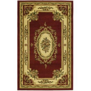 Safavieh Lyndhurst Aubusson Red/Ivory Rug   LNH218C RE