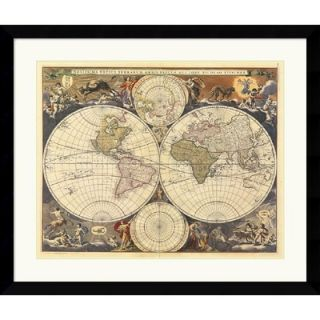 Amanti Art New World Map, 17th Century Framed Art Print by Ria
