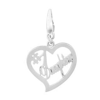 EZ Charms Sterling Silver #1 Daughter in Heart Charm   SCHA0053