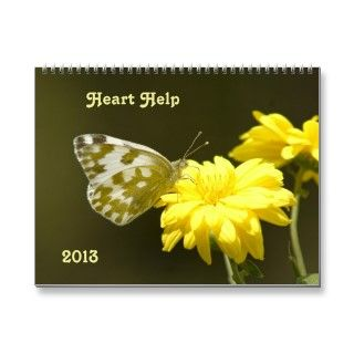 2013 Wall Calendar. Each page has flower pictures with encouraging
