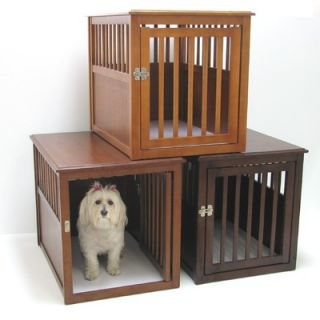Crown Pet Products Pet Crate Table made with Eco Friendly Rubberwood
