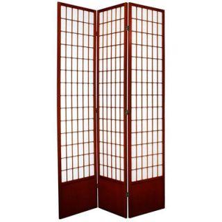 Oriental Furniture Window Pane Shoji Room Divider in Rosewood   SS