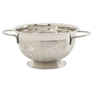 Quart Stainless Steel Cherry and Leaves Design Colander   232
