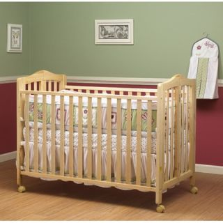 Orbelle Lisa Two Level Full Size Folding Crib in Natural