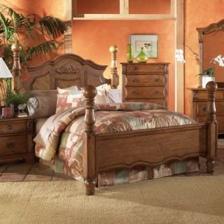 Rustic Cedar Canopy Four Poster Bed