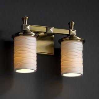 Justice Design Group Limoges Deco Two Light Bath Vanity   POR 8532