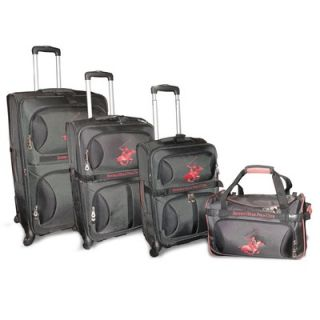 Beverly Hills Polo Club The Hunter Club 4 Piece Luggage Set   BHPC