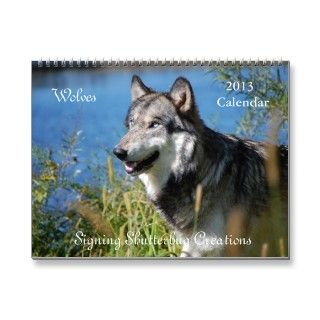 Majestic wolf photos featured on a 12 month calendar for 2013