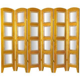 Oriental Furniture Decorative Photo Display Room Divider in Honey