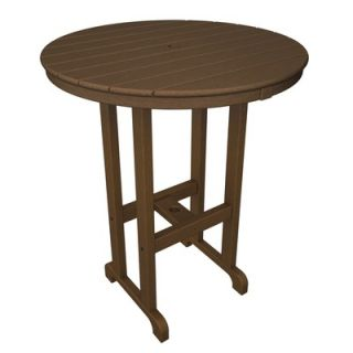 Polywood Round Outdoor Bar Table