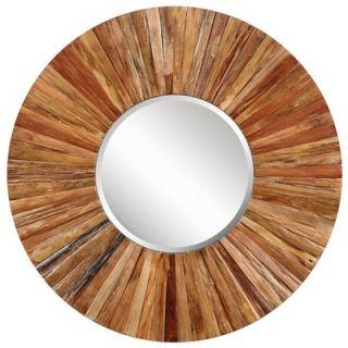 Cooper Classics Berkley Wall Mirror in Distressed Light Natural Rustic