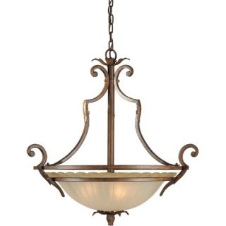Forte Lighting 4 Light Bowl Pendant   2154 04 41