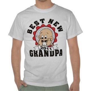 Best New Grandpa 2011 T Shirt