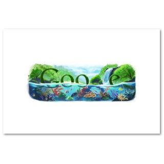 Earth Day 2009, Google Doodle Print