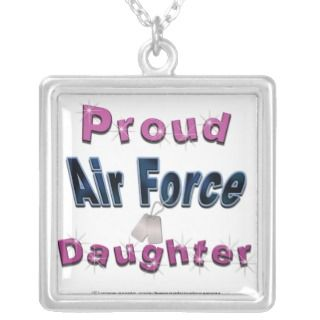 Proud Air Force Daughter Necklace