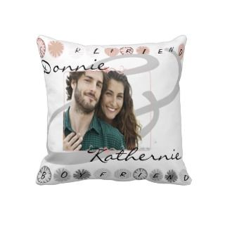 Personalize Boy friend girl friend Pillow