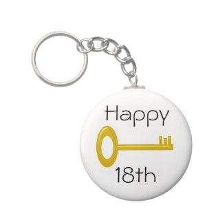 Happy 18th Birthday Keyring Keychain