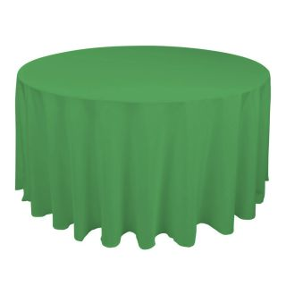 120 in Round Polyester Tablecloth for Wedding Reception or Kitchen
