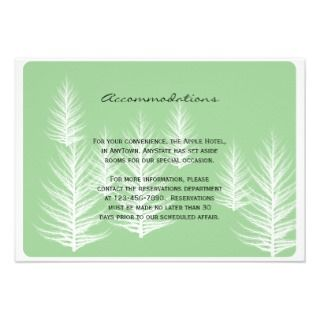 Modern Green and Brown Forest Wedding Insert Custom Announcements