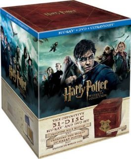 Harry Potter Wizards Collection Box Set Blu ray DVD UV Copy LIMITED