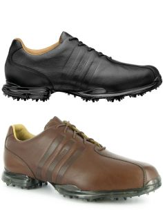 New Adidas adiPURE Z Brown Leather Golf Shoes Mens 12 Medium