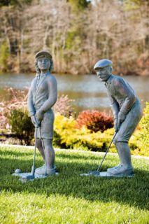 35 Nostalgic Golfer Cement Garden Outdoor Statue PGA