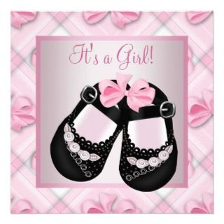 Pink Black Baby Shoes Pink Black Baby Girl Shower Personalized