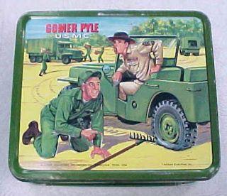 Vintage 1966 Gomer Pyle USMC Lunch Box Nice No Thermos