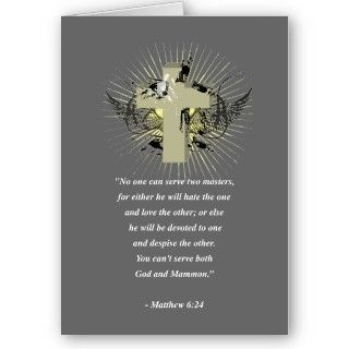 MATTHEW 624 Bible Verse Card