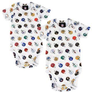 Gerber Newborn 2 Pack NFL Helmet Onesies White