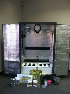 Hydroponic Grow Box Cabinet System Turnkey