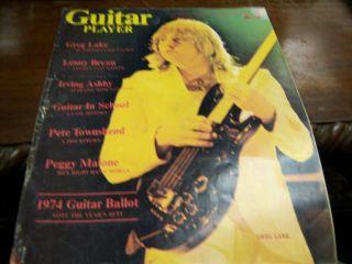 Guitar Player Magazine September 1974 Greg Lake 052912EL3