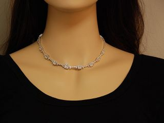 Gregg Ruth 18K White Gold Diamond Square Necklace WOW
