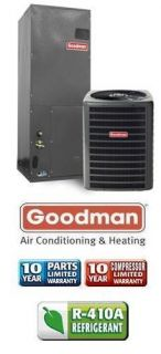 Ton 14 SEER Goodman Air Conditioning System GSX130301 AVPTC18301