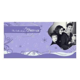 Christmas Photo Card Winter Flakes Drifts & Swirls