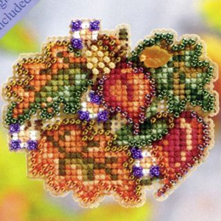 Circle Beaded Cross Stitch Kit Mill Hill 2011 Autumn Harvest
