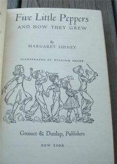 Book Five Little Peppers and How They Grew Margaret Sidney 1936