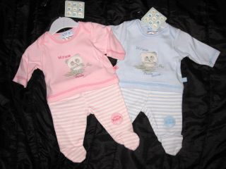 BNWT ~ LITTLE PANDA BABY GIRLS 2PCE OUTFIT   FITS A SMALL NEWBORN OR