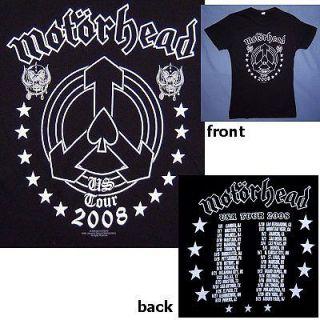 MOTORHEAD ARROW LOGO USA TOUR 2008 BABY DOLL GIRLS T SHIRT LARGE NEW